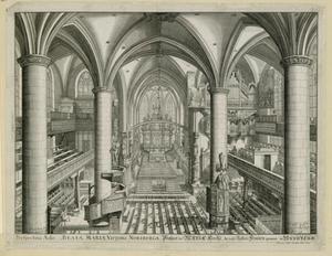 Inrterieur van de Frauenkirche te Neurenberg