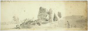 Afbraak van de ruïne van Huis ter Kleef bij Haarlem