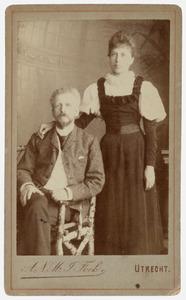 Portret van Bauke de Stoppelaar Blijdesteijn (1846-1911) en Taletta Anna Maria Verlooy (1861-1932)