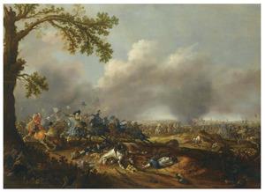 Gustaaf II Adolf van Zweden bij de slag bij Lützen, 16 november 1632