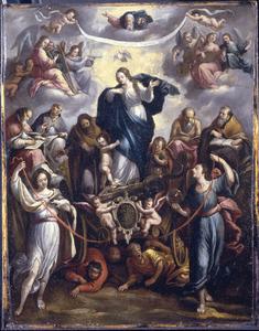 De triomf van het katholieke geloof over het heidendom