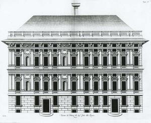 Palazzo Rovere: Plan van de gevel