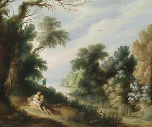 Boslandschap met Venus en Adonis