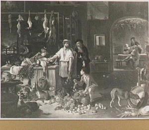 Keukeninterieur van een herberg