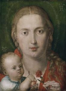 Maria met Kind en anjer