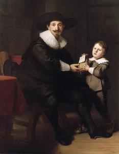 Portret van Jean Pellicorne (....-....) en zijn zoon Casper Pellicorne (1628-1680)