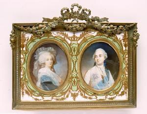 Portretminiaturen van Marie-Antoinette en Lodewijk XVI