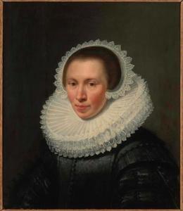 Portret van Anna van Brouchoven, echtgenote van Willem van Baersdorp