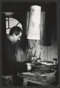 Anton Heyboer aan het werk