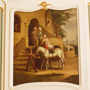 De barmharige Samaritaan brengt de gewonde reiziger naar een herberg (Lucas 10:25-37)