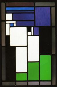Glas-in-lood-compositie Vrouwenkop