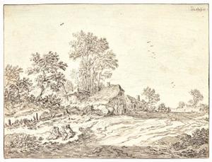 Boerderijen aan een dorpsstraat