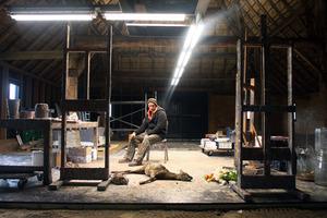 Marc Mulders in zijn atelier