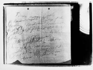 Testament van Piet Mondriaan geschreven op zijn ziektebed