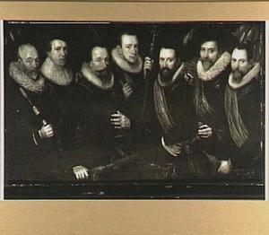 Schutterstuk van de officieren en vaandeldragers van de Oude Schutterij, 1627-1629
