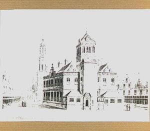 De achterzijde van het stadhuis te Delft