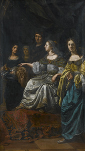 Ongeïdentificeerde scène met een antieke koningin