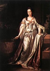 Portret van Anna Maria Luisa de' Medici, keurvorstin van de Palts