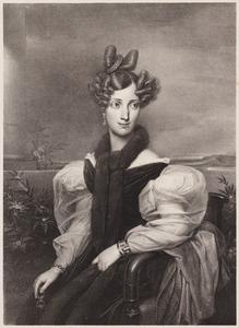 Portret van Sophie Wilhelmine van Zweden, Grootherogin van Baden (1801-1865)