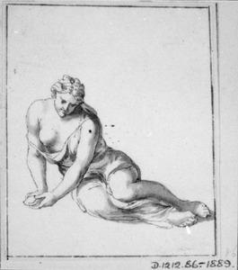 Vrouw met ontblote borst