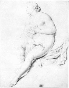 Studie van een naakte vrouw (Diana?)