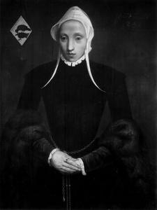 Portret van Maria van der Valk (....-1576)