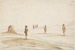 Figuren op het strand