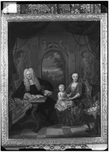 Portret van Lieve Geelvinck (1676-1743),  Anna de Haze (1690-1761) en hun kleinzoon Lieve Geelvinck (1730-1757)
