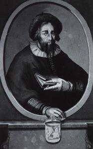 Portret van Arje Juda Leib Ben David Calischer ( -1709)