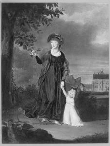 Portret van Rufina Jacoba Maria Half-Wassenaer van Onsenoort (1778-1855) en Sophia Henrietta Maria van Bommel (1799-1880)