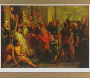 De H. Ambrosius weigert keizer Theodosius de toegang tot de kathedraal van Milaan