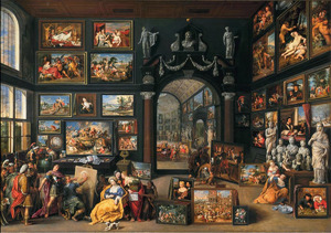 Alexander de Grote bezoekt het atelier van Apelles