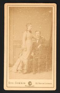 Portret van Oswald François Greven (1850-?) en Antoinette Catharina Johanna Wentholt (1852-?)
