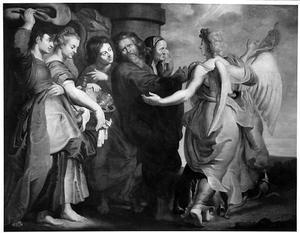 Lot en zijn gezin verlaten Sodom (Genesis 19:15)