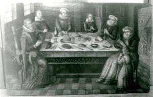 Gezelschap aan een tafel