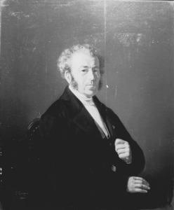 Portret van Samuel Eerelman, echtgenoot van Cornelisje Eerelman-Pluimker, vader van de schilder
