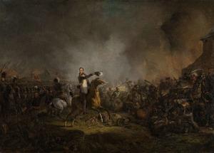 De prins van Oranje bij Quatre Bras op 16 juni 1815