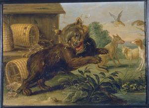 De fabel van de beer en de bijen (Aesopus)