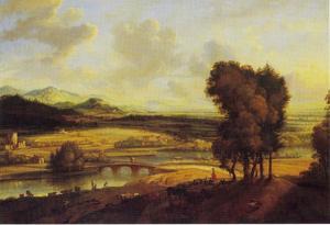 Panoramalandschap met een rivier