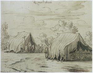 Militair kampement bij Mont Saint André