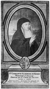 Portret van Charlotta Flandrina van Oranje-Nassau (1579-1640)