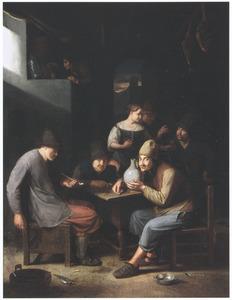 Vrolijke boeren in een herberg