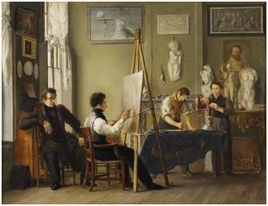 Het atelier van de schilder