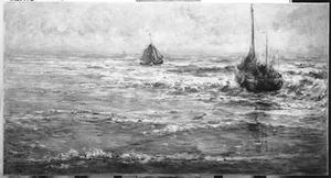 Vissersbommen in zee