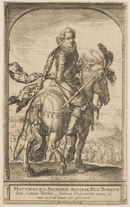 Ruiterportret van Matthias II van Habsburg (1557-1619)