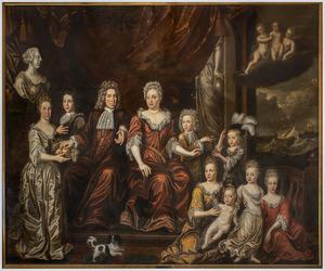 Groepsportret van de familie van Albert Löning