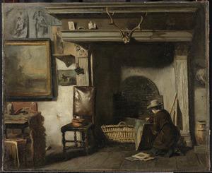 Het atelier van de Haarlemse schilder Pieter Frederick van Os, de leermeester van Mauve