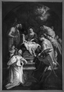 De geloofsbelijdenis van de H. Norbertus en zijn medebroeders tijdens Kerstnacht 1120