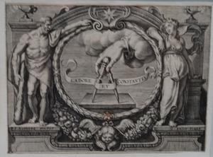 Vignet voor J. Lipsius, Opera Omnia, II-IV, Antwerpen 1637