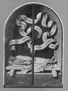 Dode in een grafnis (memento mori)